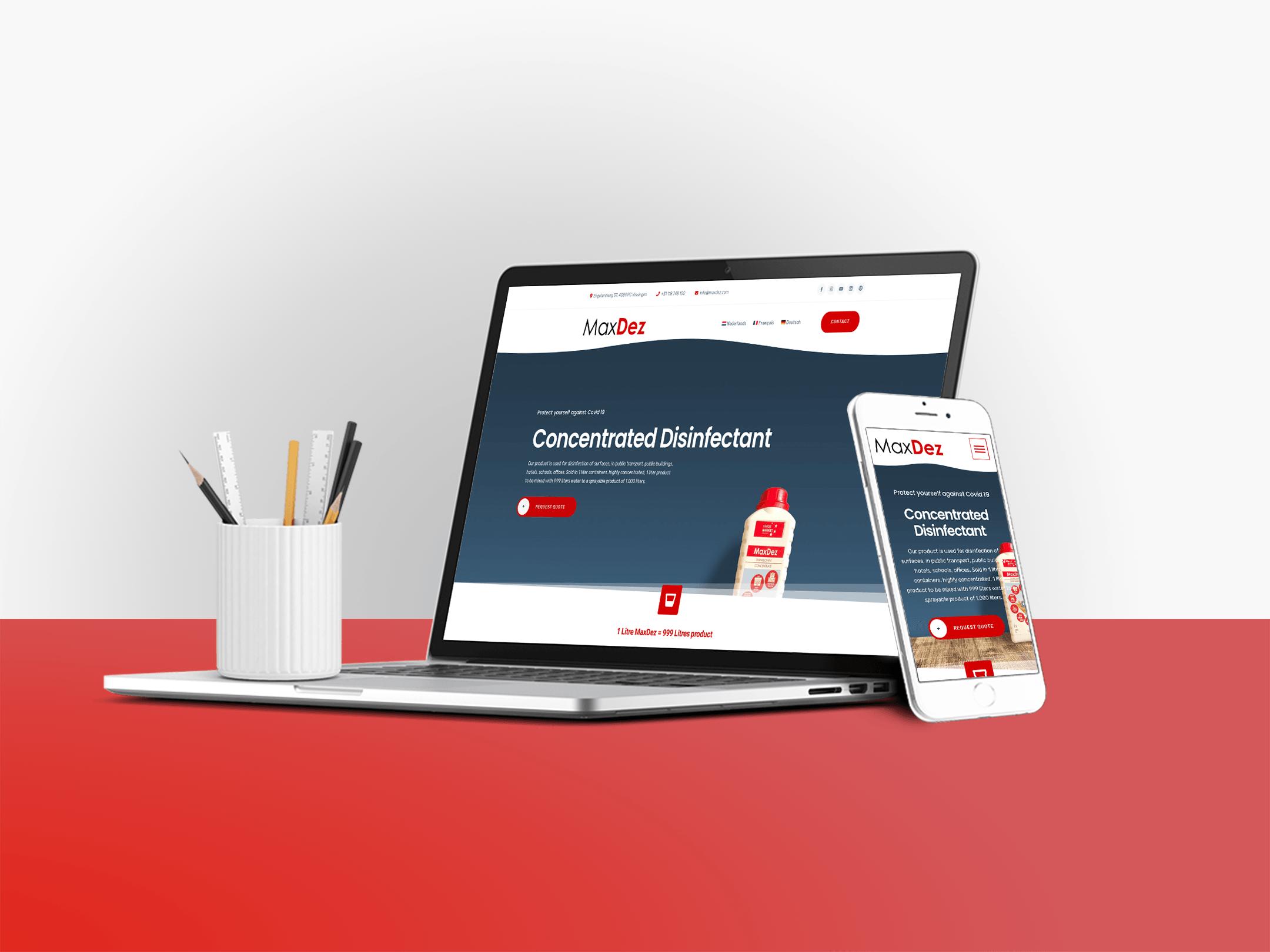 MaxDez – Product Website